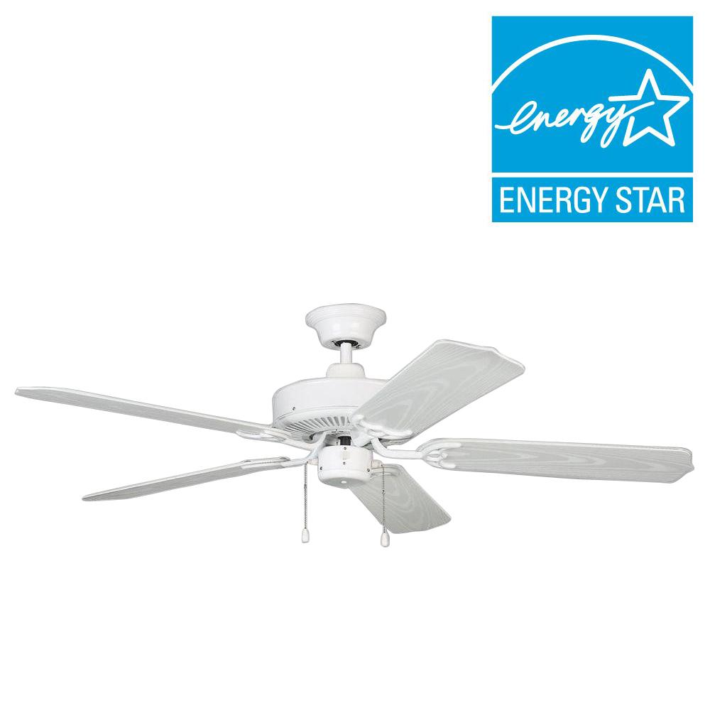 Designers Choice Collection Sea Breeze 52 in. White Ceiling Fan