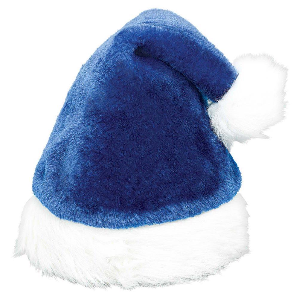 15 in. x 11 in. Santa Christmas Blue Hat (3-Pack)