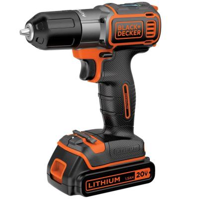 20-Volt MAX Lithium-Ion Cordless Drill/Driver with Autosense Technology with Battery 1.5Ah and Charger