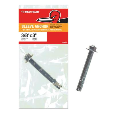 3/8 in. x 3 in. Steel Hex Head Sleeve Anchor