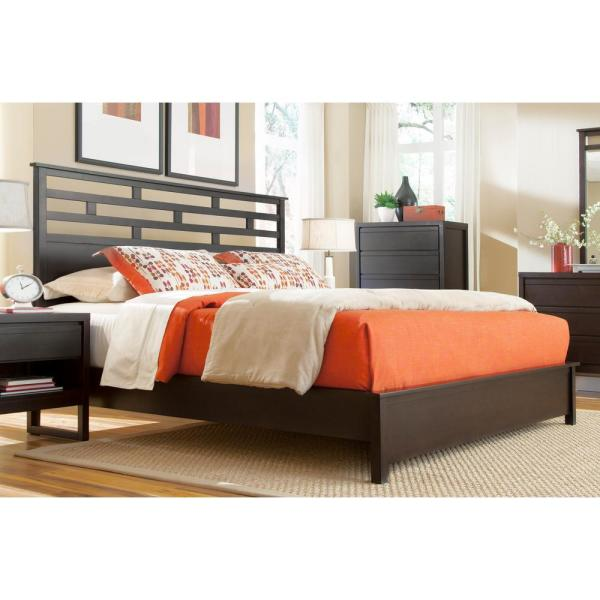 Athena Dark Chocolate King Complete Panel Bed
