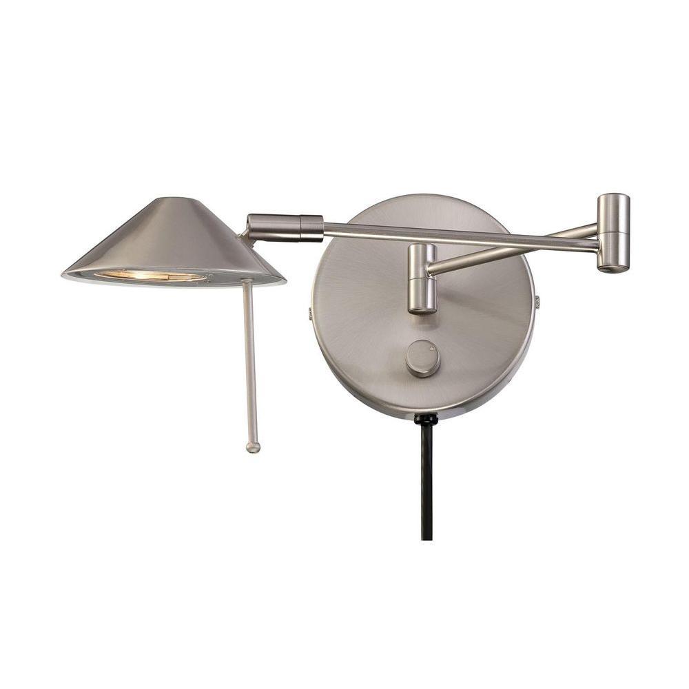 Illumine 1-Light Brushed Nickel Wall Lamp