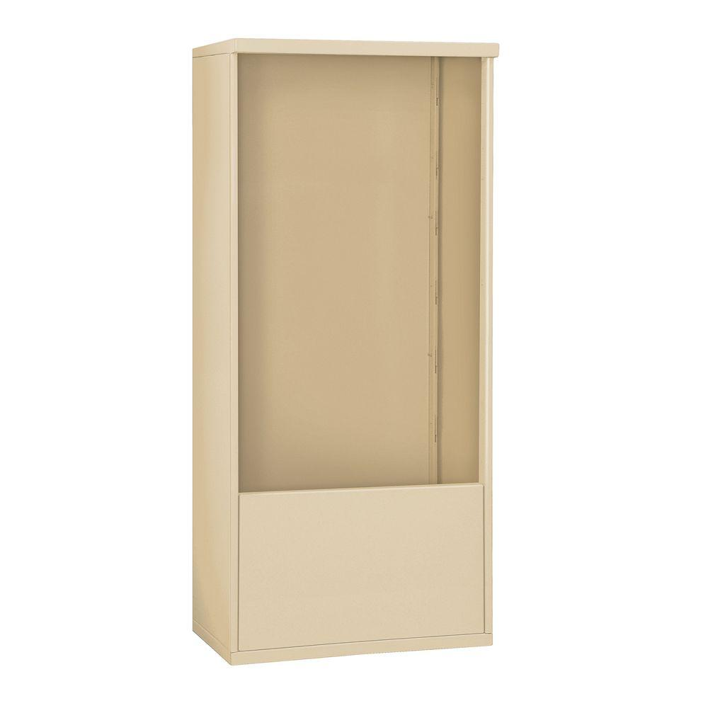 Salsbury Industries 3900 Series 32.25 in. W x 69.25 in. H x 19 in. D Free-Standing Enclosure for Salsbury 3713 Double Column Unit, Sandstone