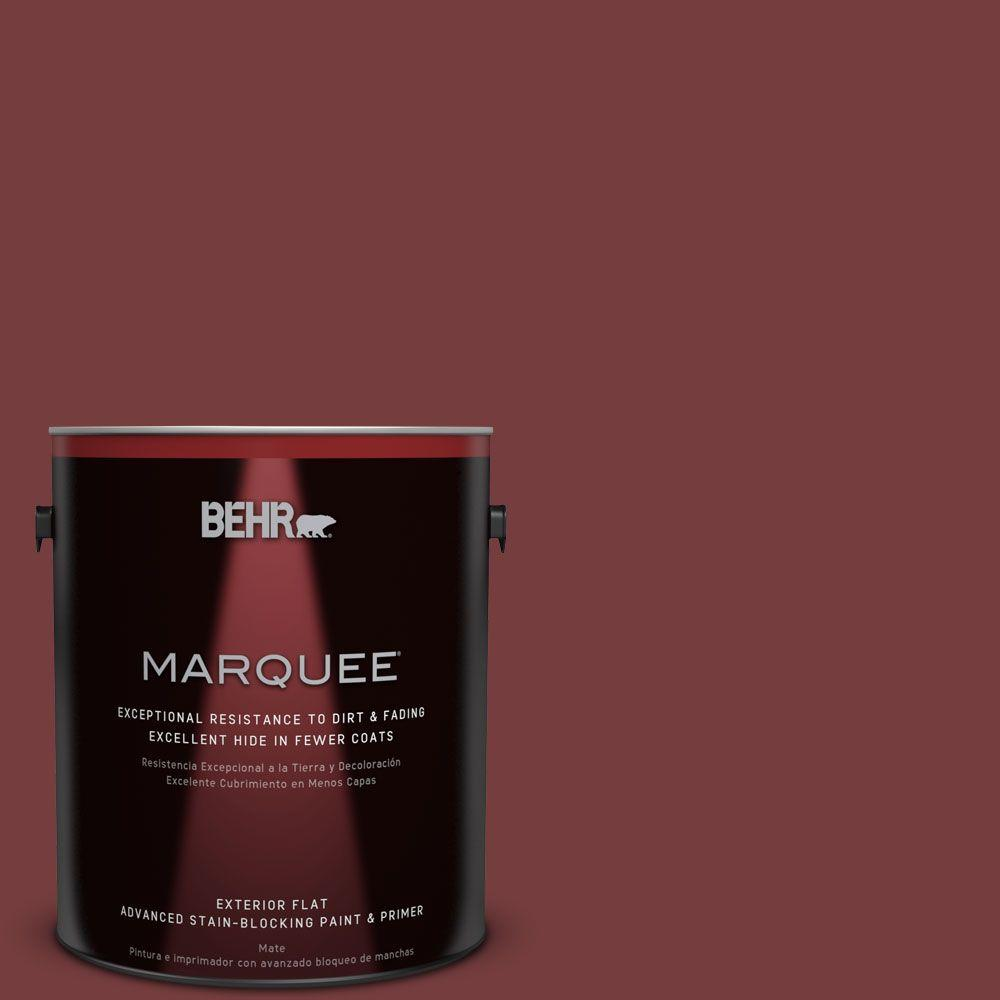 BEHR MARQUEE 1-gal. #PPF-01 Tile Red Flat Exterior Paint