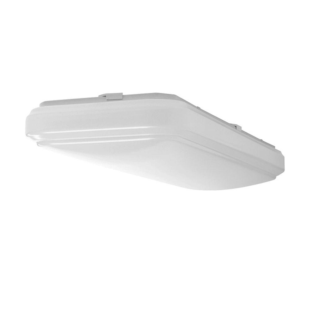 Hampton Bay 2 ft. x 1 ft. Bright/Cool White Rectangular LED Flushmount Ceiling Light Fixture Dimmable