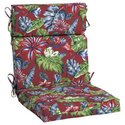 Ruby Tropical Outdoor High Back Dining Chair Cushion