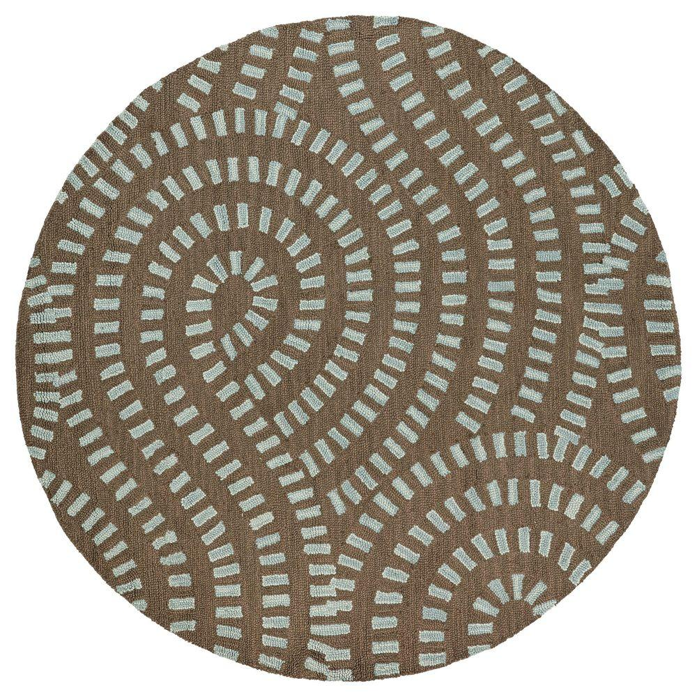 Kaleen Carriage Traffic Spa 7 ft. 9 in. x 7 ft. 9 in. Round Area Rug
