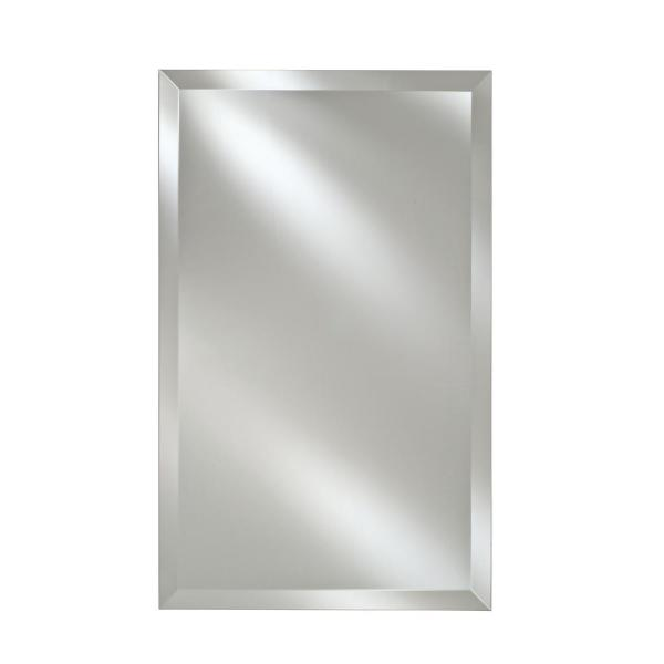 Jensen Barrington 15 In W X 19 In H X 5 In D Framed Recessed Or Surface Mount Bathroom Medicine Cabinet In Satin Nickel 56ss184csnx The Home Depot