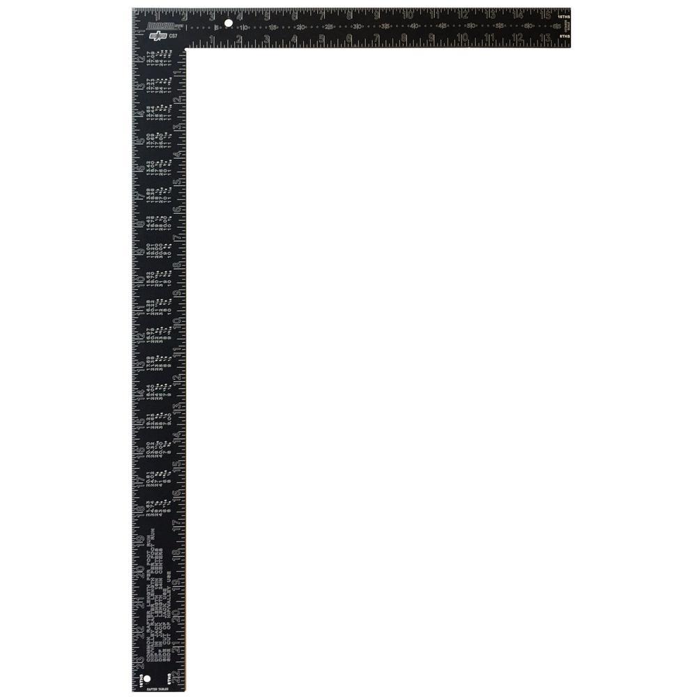 Johnson 16 in. x 24 in. Black Aluminum Rafter Square