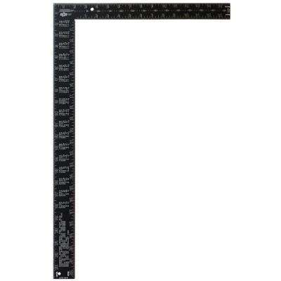 16 in. x 24 in. Black Aluminum Rafter Square
