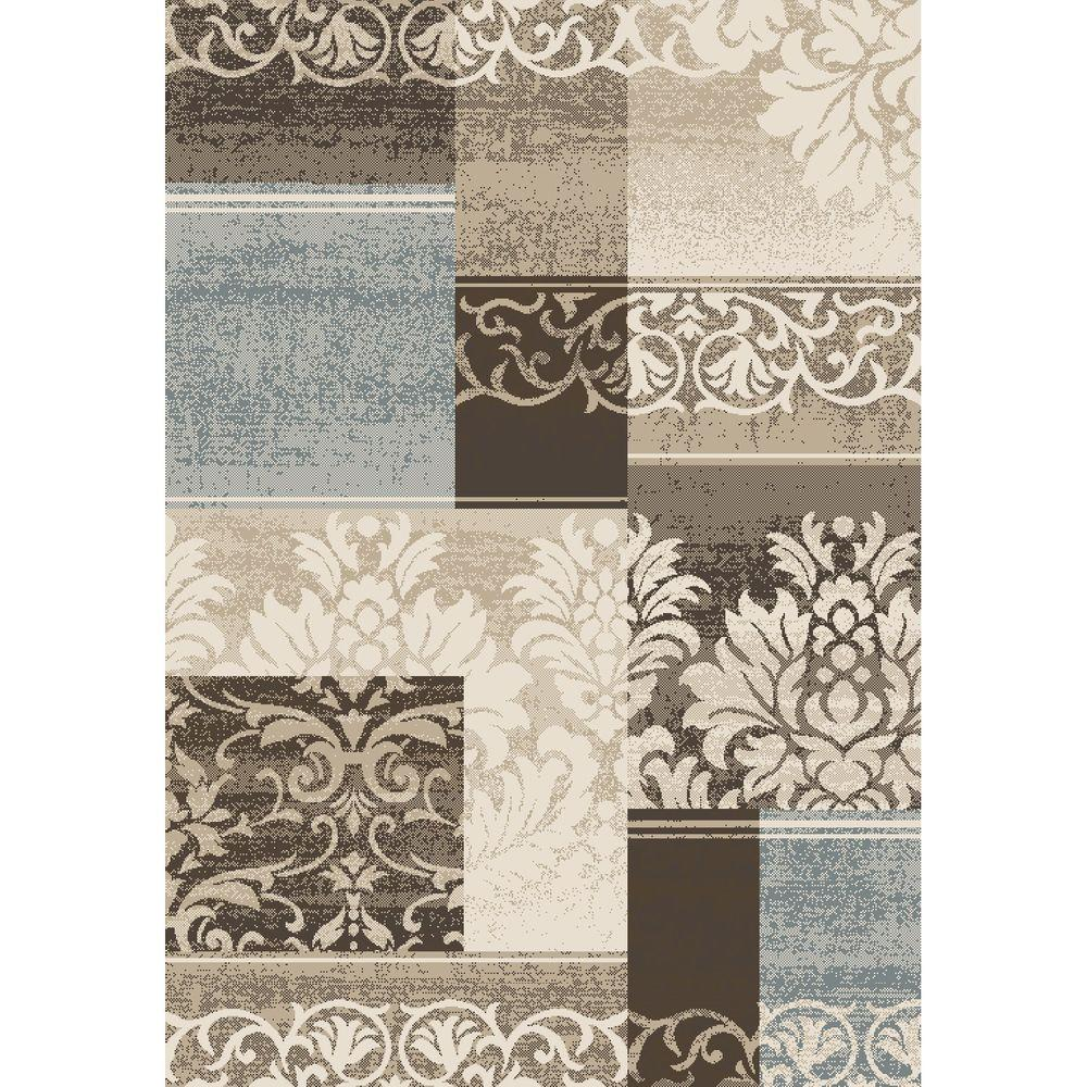 Concord Global Trading Casa Collection Capri Ivory 5 ft. 3 in. x 7 ft. 3 in. Area Rug