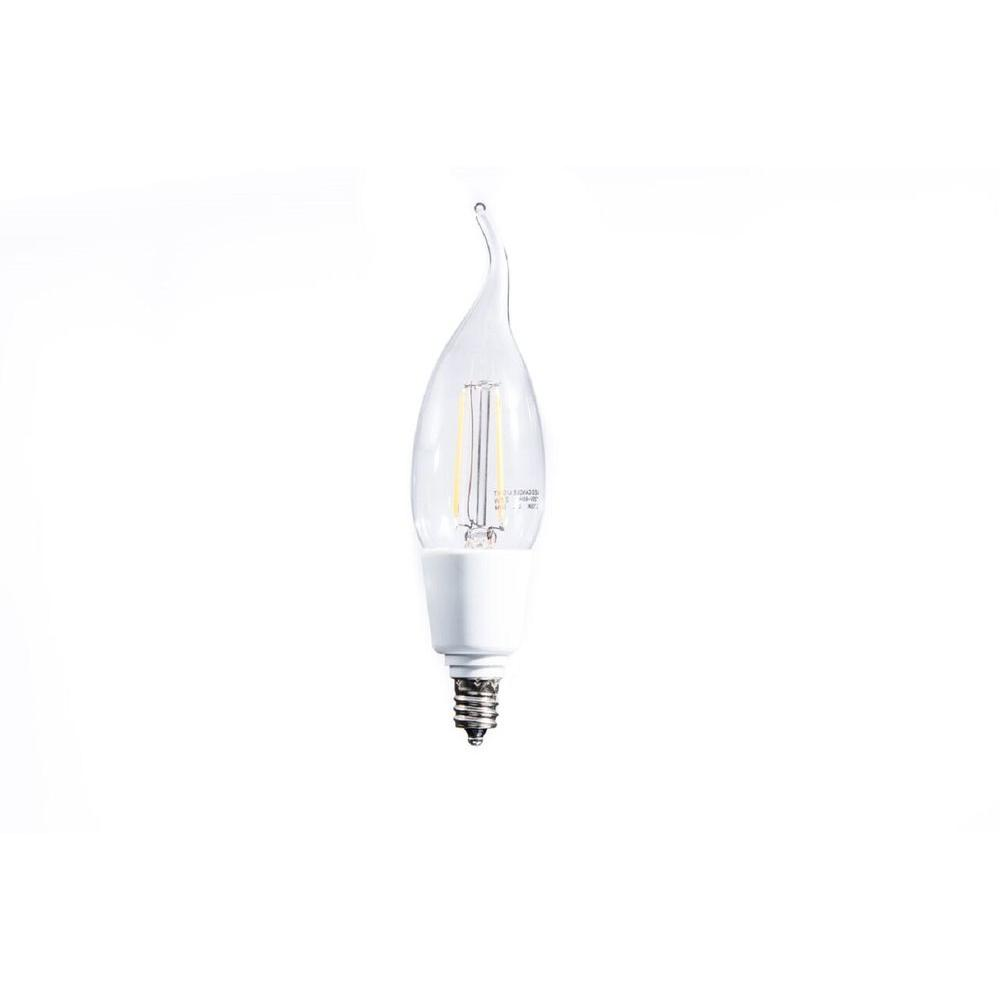 20W Equivalent Soft White Vintage Filament B11 Flame-Tip Dimmable LED Light