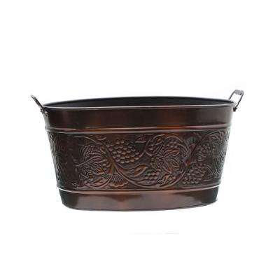 18 in. x 10.5 in. x 9.5 in. Antique Embossed Heritiage Party Tub
