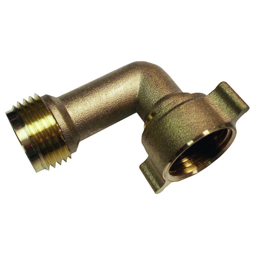 Nice Lead Free Brass Garden Hose 90 Degree Elbow 3/4 In. MGH