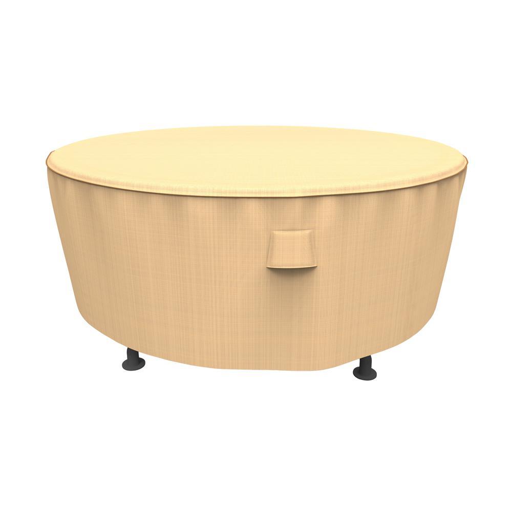 Rust-Oleum NeverWet Savanna Large Tan Round Patio Table Cover