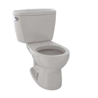 Drake 2-Piece 1.6 GPF Single Flush Round Toilet with Insulated Tank in Sedona Beige