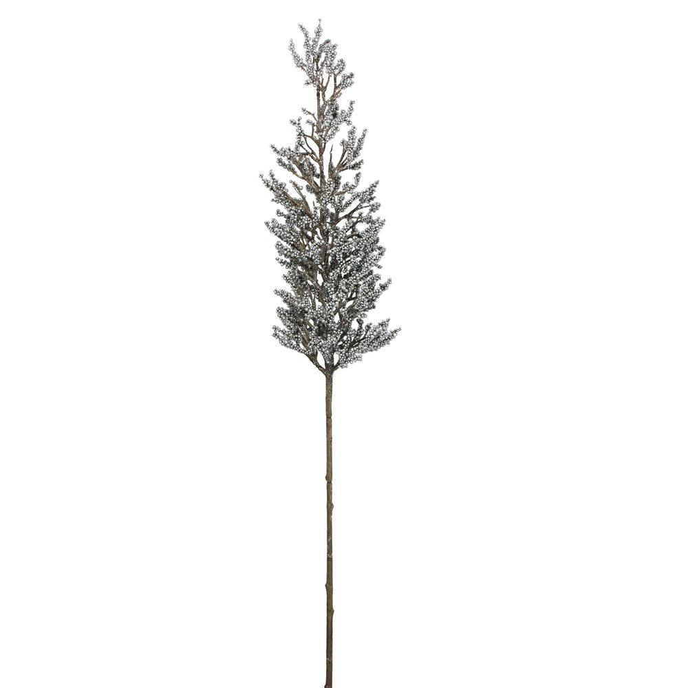 Northlight 39 in. Christmas Silver Glittered Artificial Pine Spring Branch Spray
