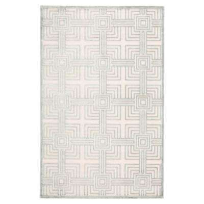 Fables Silver 8 ft. 10 in. x 11 ft. 9 in. Trellis Rectangle Rug