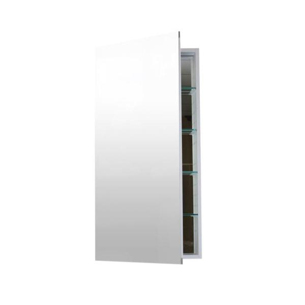12 in. W x 40 in. H x 4 in. D Frameless Aluminum Surface-Mount Bathroom Medicine Cabinet