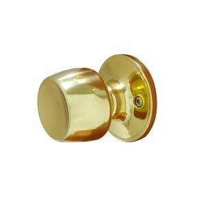 Defiant Brandy Wine Polished Brass Dummy Door Knob T8740