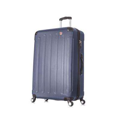 Intely 32 in. Blue Hardside Spinner with Integrated Weight Scale
