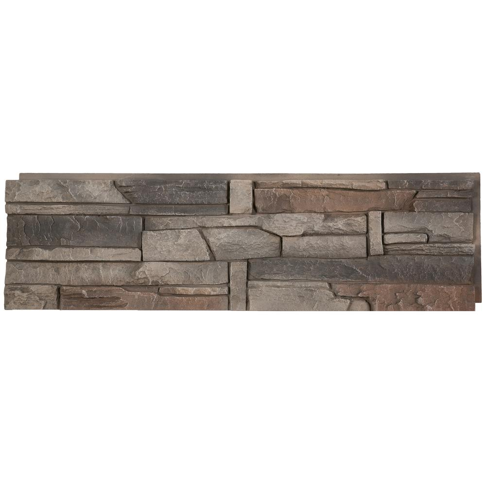 GenStone Stacked Stone Kenai 12 In. X 42 In. Faux Stone Siding Half Panel