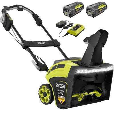 21 in. 40-Volt Brushless Cordless Electric Snow Blower with Two 5.0 Ah Batteries and Charger Included