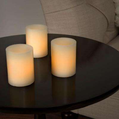 2.5 in. H Vanilla LED Votive Flameless Wax Candle Set (8-Piece)