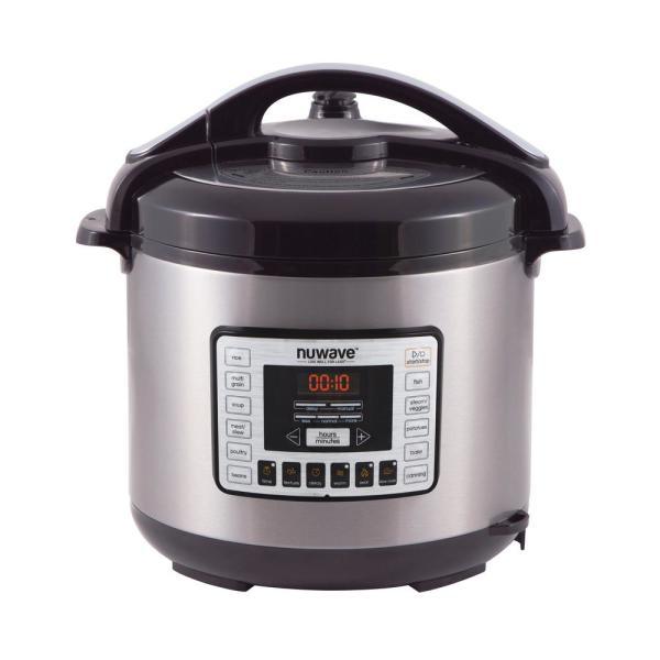 NuWave 8 Qt. Stainless Steel Electric Pressure Cooker with Non-Stick Pot