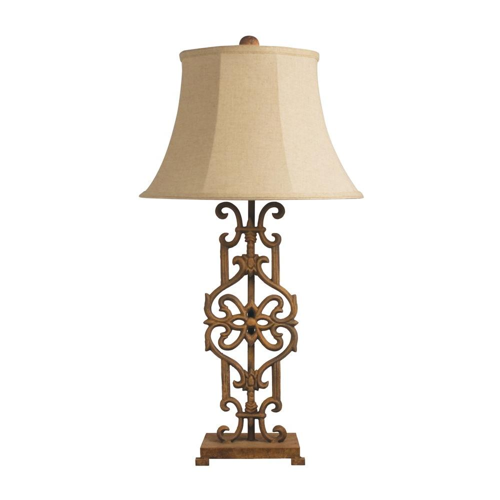 Titan Lighting 35 in. Iron Relic Table Lamp-DISCONTINUED