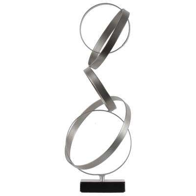 17.75 in. H Sculpture Decorative Sculpture in Silver Metallic