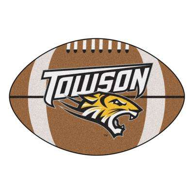 NCAA Towson University 20.5 in. 32.5 in. Football Mat Area Rug