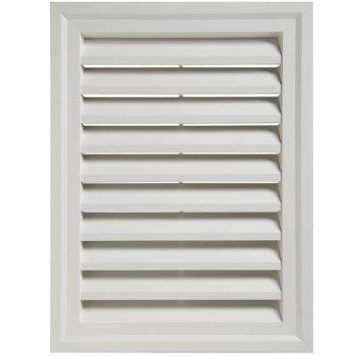 18 in. x 24 in. White Rectangular Gable Vent