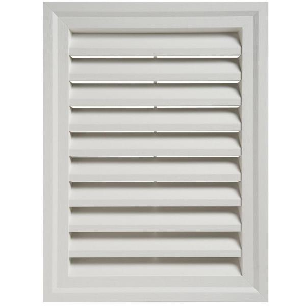 Ply Gem 18 In X 24 In In Rectangular White Pvc Weather Filter Gable Louver Vent Regv18h04h The Home Depot