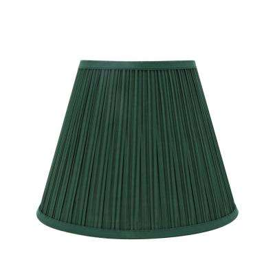 13 in. x 10 in. Green Pleated Empire Lamp Shade