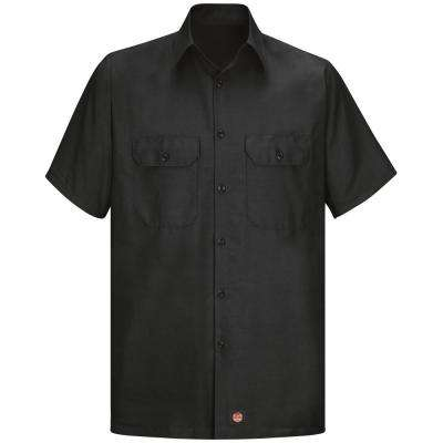 Men's Size XL Black Solid Rip Stop Shirt
