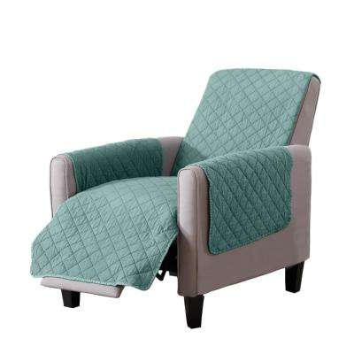 Laurina Collection Aqua Stonewashed Reversible Recliner Furniture Protector