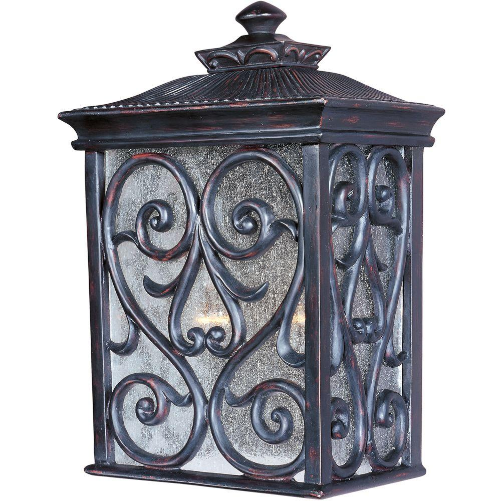 Newbury VX 2 Light Oriental Bronze Outdoor Wall Mount