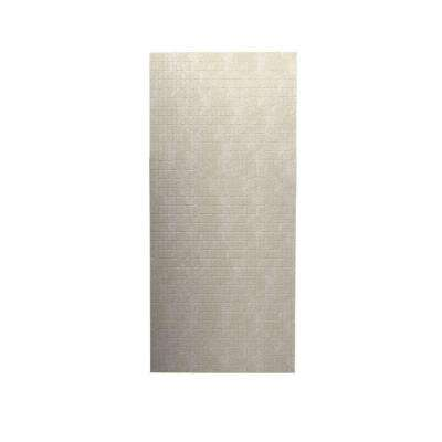 Tangier 1/4 in. x 36 in. x 96 in. One Piece Easy Up Adhesive Shower Wall in Cloud Bone