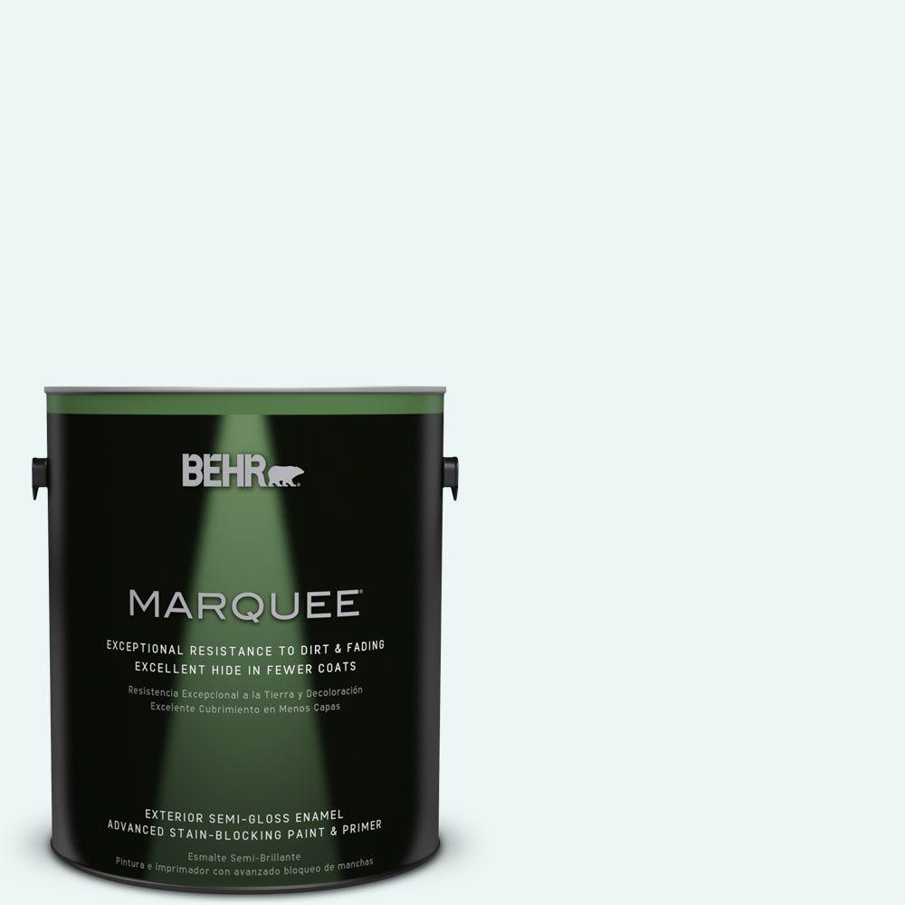 BEHR MARQUEE 1-gal. #PPL-15 Icy Wind Semi-Gloss Enamel Exterior Paint