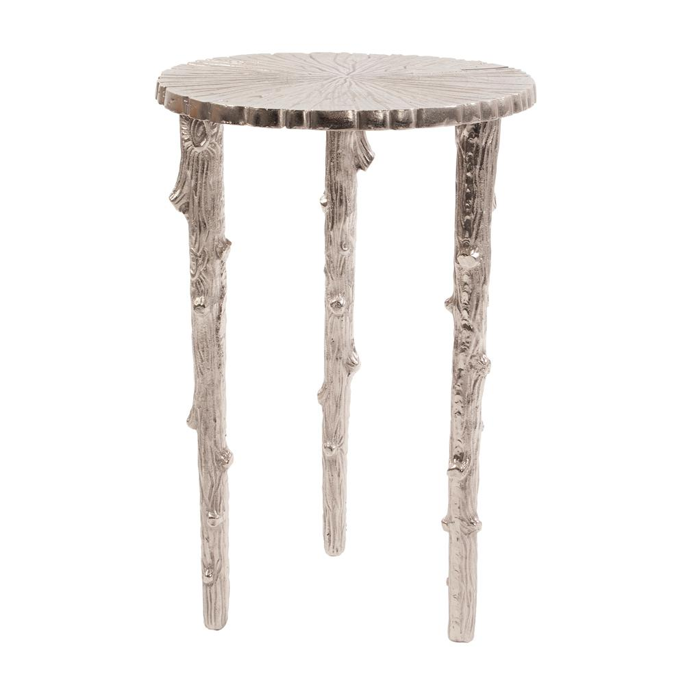Silver Tree Pedestal Table The Home Depot