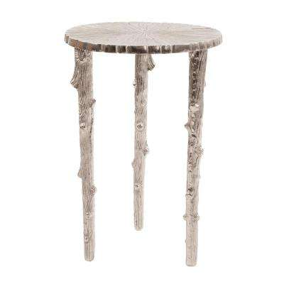 Silver Tree Pedestal Table