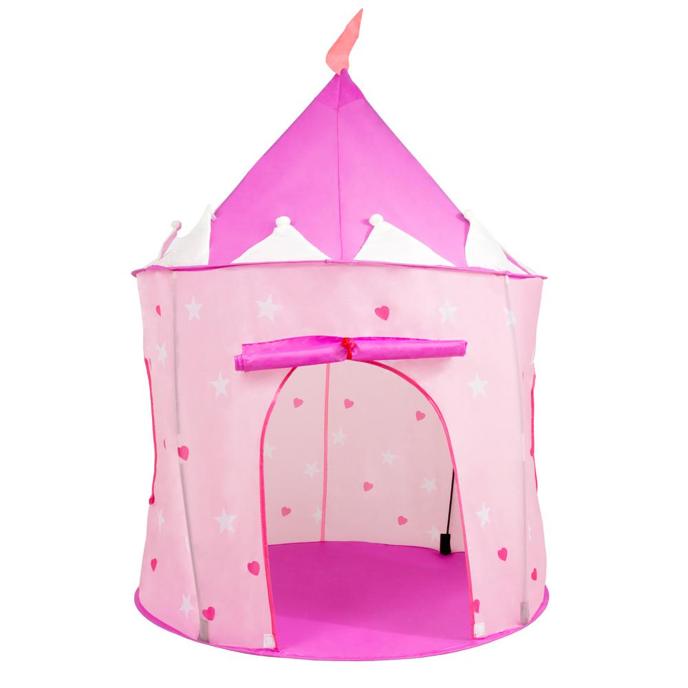 big sale 546dc 18aaa Hey! Play! Pink Princess Castle Play Tent