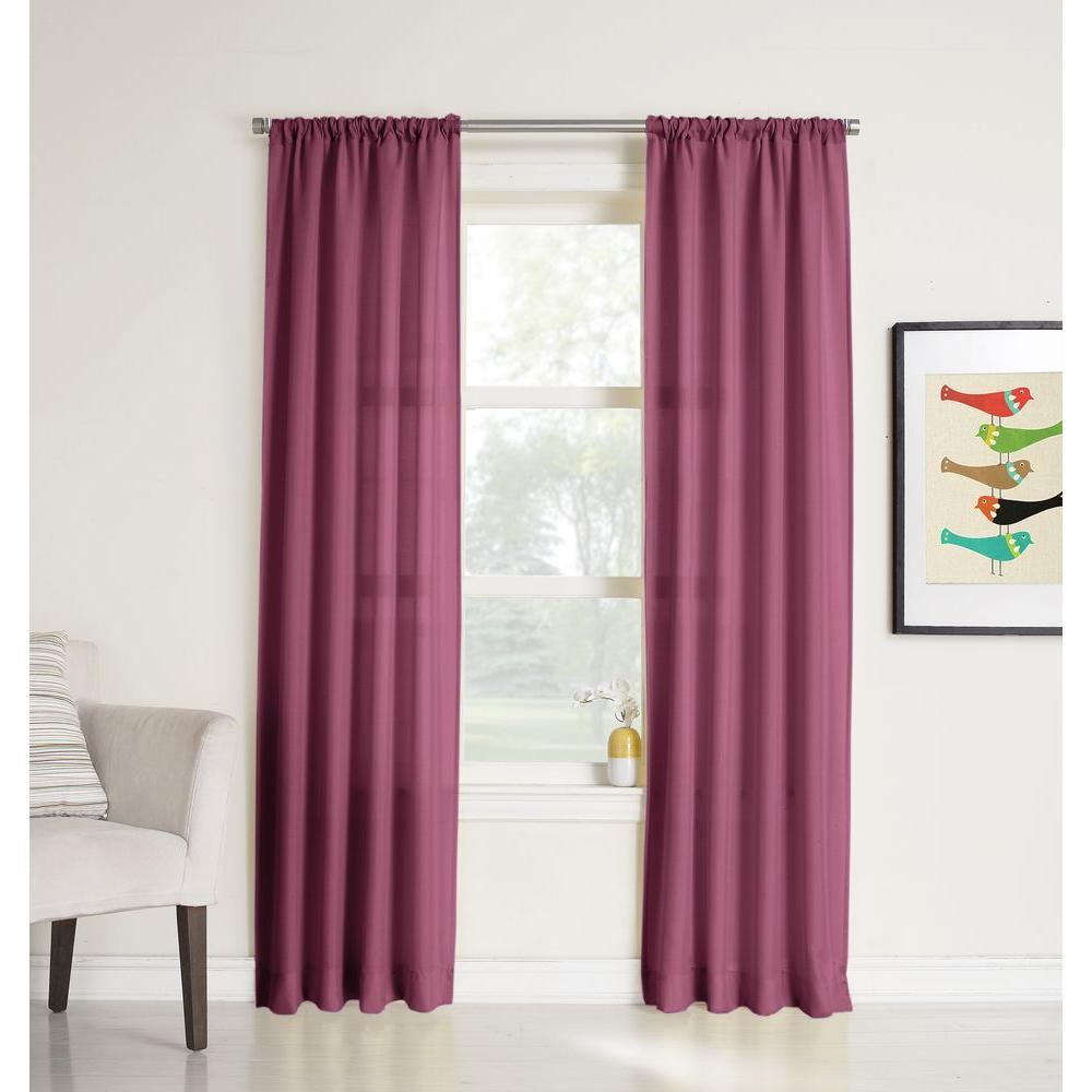 LICHTENBERG Sheer Berry No. 918 Millennial Ryan Heathered Texture Sheer Curtain Panel, 40 in. W x 63 in. L