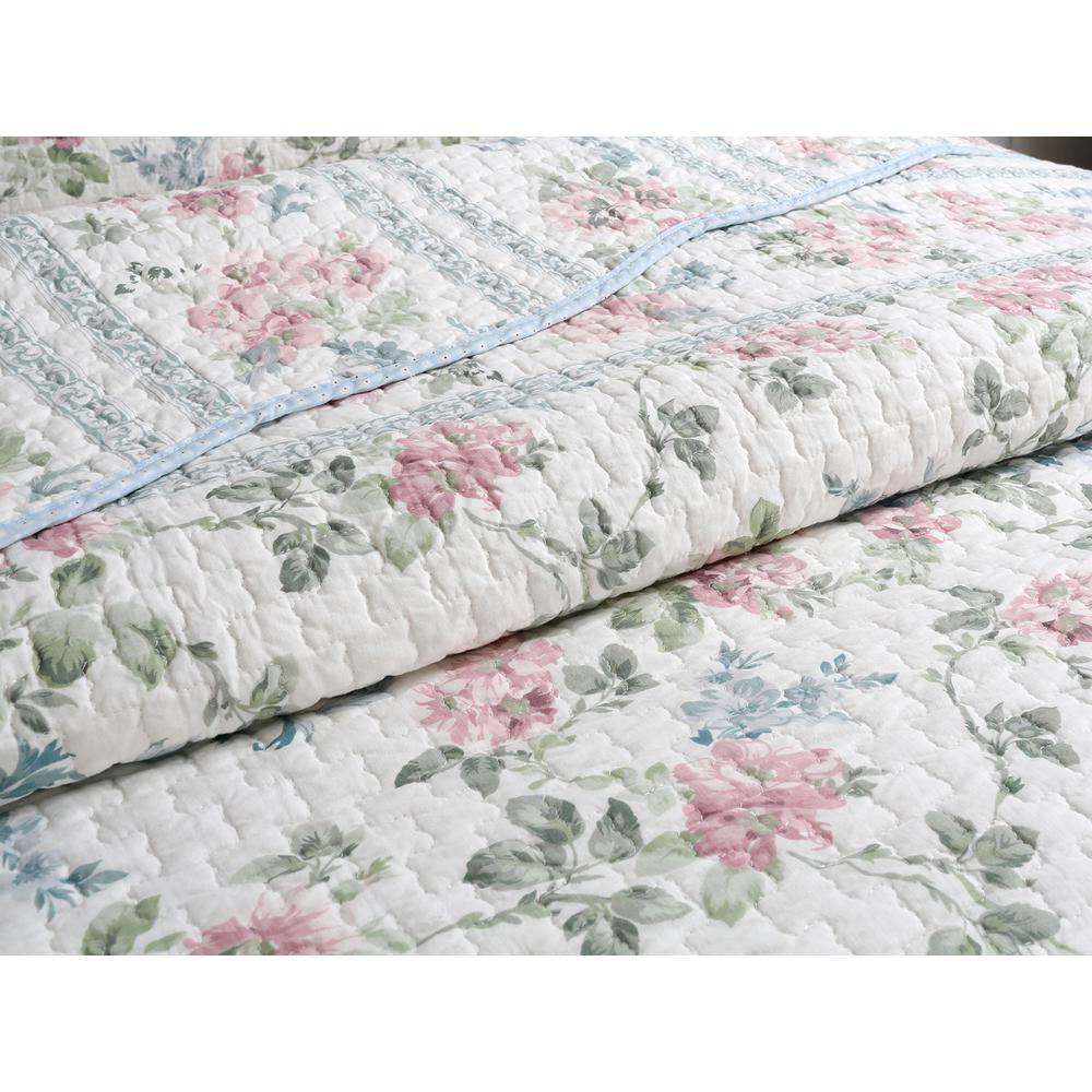 Full KingKara Pink Flower Garden Princess Duvet Cover Set with 1 Pillow Shams for Kids Cotton Blend Floral Pattern 4 Piece Bedding Set