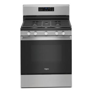 30 in. 5.0 cu. ft. Gas Range with Fan Convection Cooking in Stainless Steel