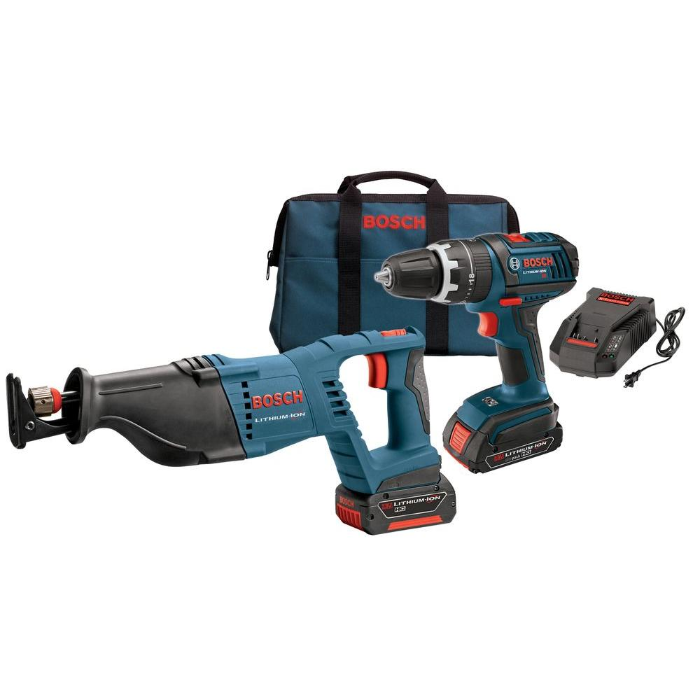Bosch 18-Volt Lithium-Ion Cordless Combo Kit (2-Tool)