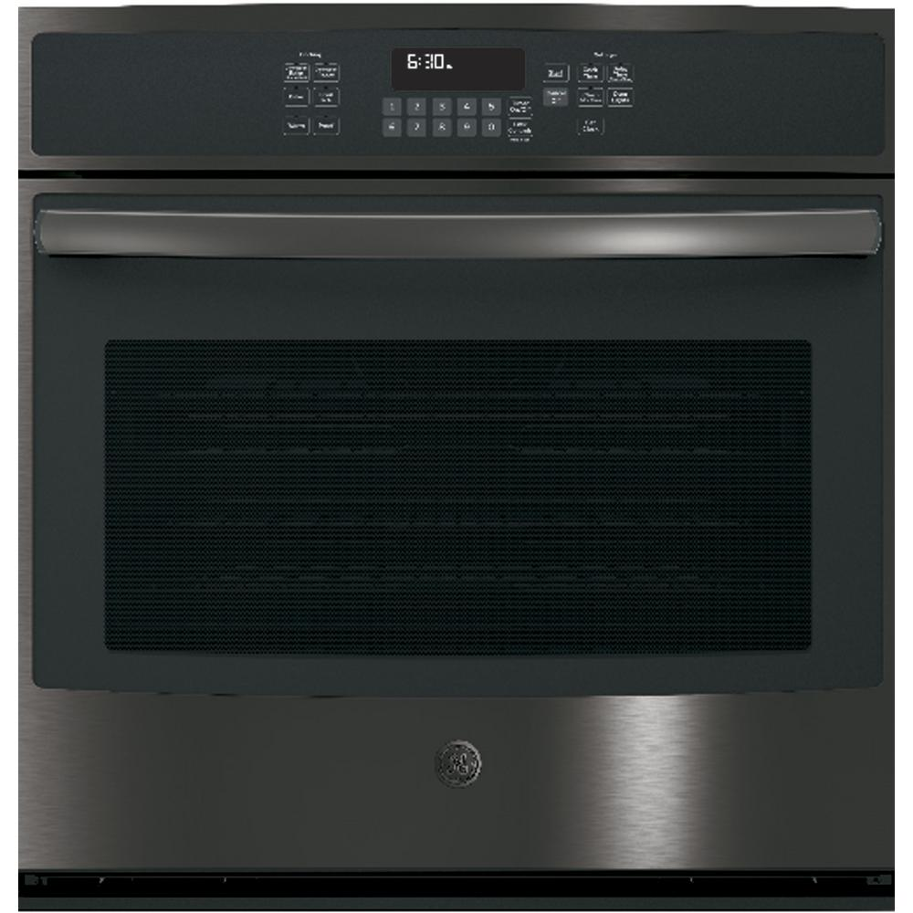 black stainless ge single electric wall ovens jt5000blts 64_1000 kitchenaid 30 in single electric wall oven self cleaning with  at soozxer.org