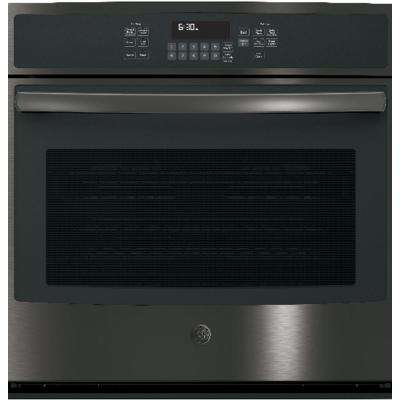 30 in. Single Electric Wall Oven Self-Cleaning with Steam in Black Stainless Steel, Fingerprint Resistant