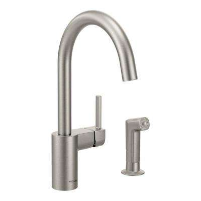 Align Single-Handle Standard Kitchen Faucet with Side Sprayer in Spot Resist Stainless